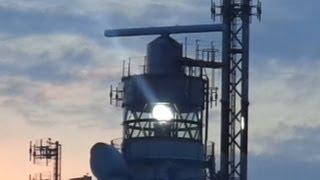 Heligoland lighthouse in the evening / Leuchtturm auf Helgoland am Abend