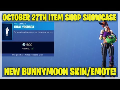 Fortnite Item Shop - NEW BUNNYMOON SKIN AND EMOTE [October 27th, 2018] (Fortnite Battle Royale)