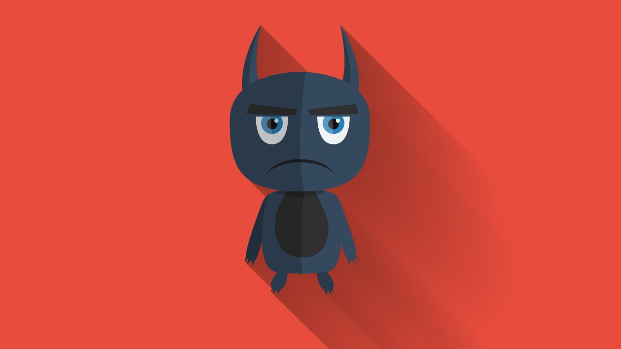 Illustrator Cs6 Character Design : Flat design monster illustrator tutorial youtube