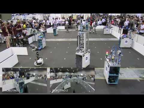 RoboCup Logistics League 2017 Final: Carologistics vs. GRIPS [extended version]