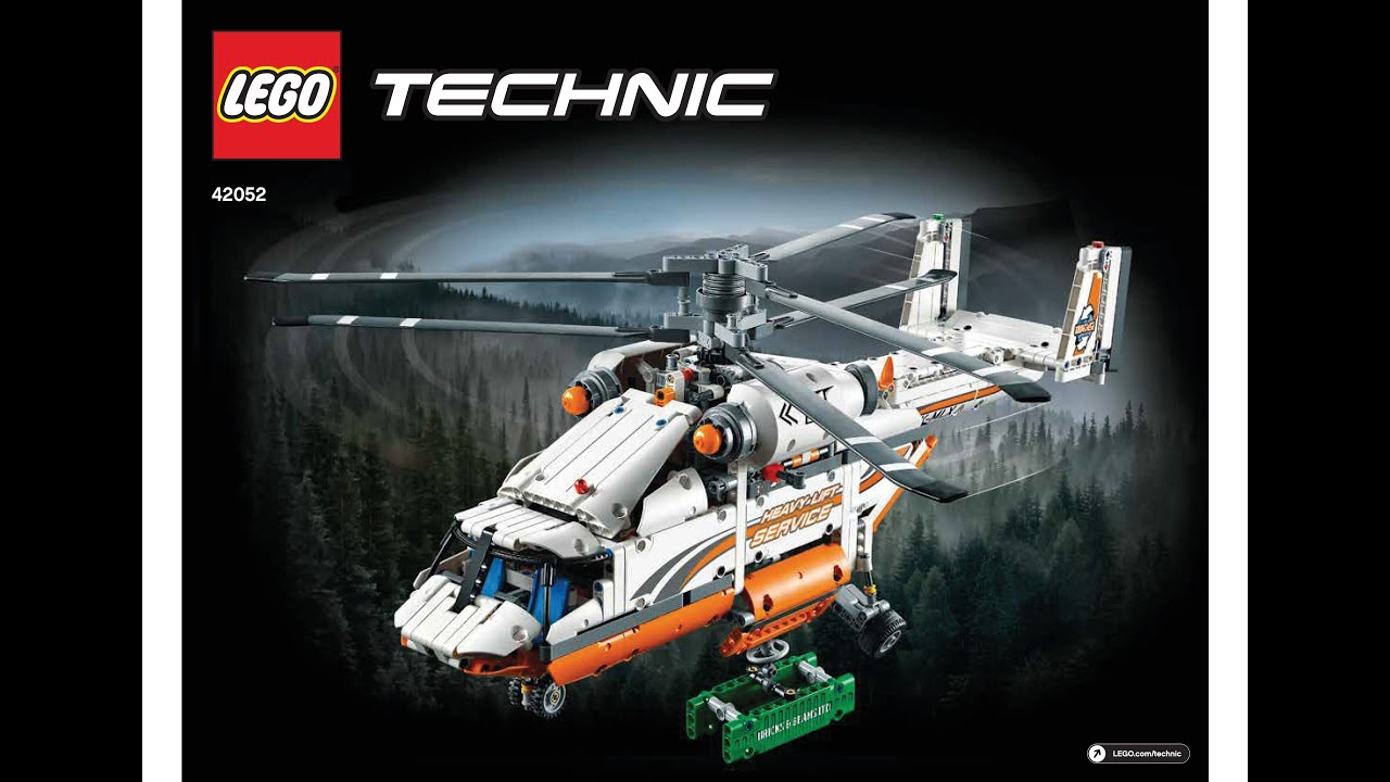 lego 42052 heavy lift helicopter instructions lego technic 2016 youtube. Black Bedroom Furniture Sets. Home Design Ideas