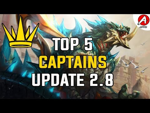 Vainglory Top 5 Heroes To Play Update [2.8] - Captain Edition/vainglory 2.8Tier List
