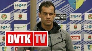 Bódog Tamás értékelése | Mezőkövesd - DVTK | 2017. december 2. | DVTK TV