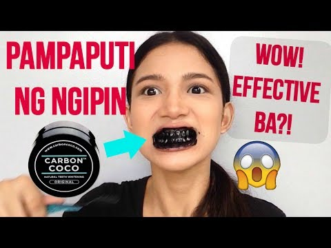 Carbon Coco Teeth Whitening First Impression Review + DEMO Philippines  Tyra C