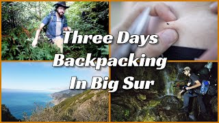 Backpacking to Cone Peak in Big Sur | Unmaintained trails, Ticks, and Lots of Water (ft Wyatt Irmen)