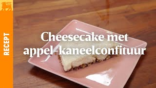 Cheesecake met appel-kaneelconfituur