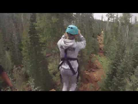 Ziplining at Sunrise Ski Resort in Greer, AZ with Eva Leigh Jackson