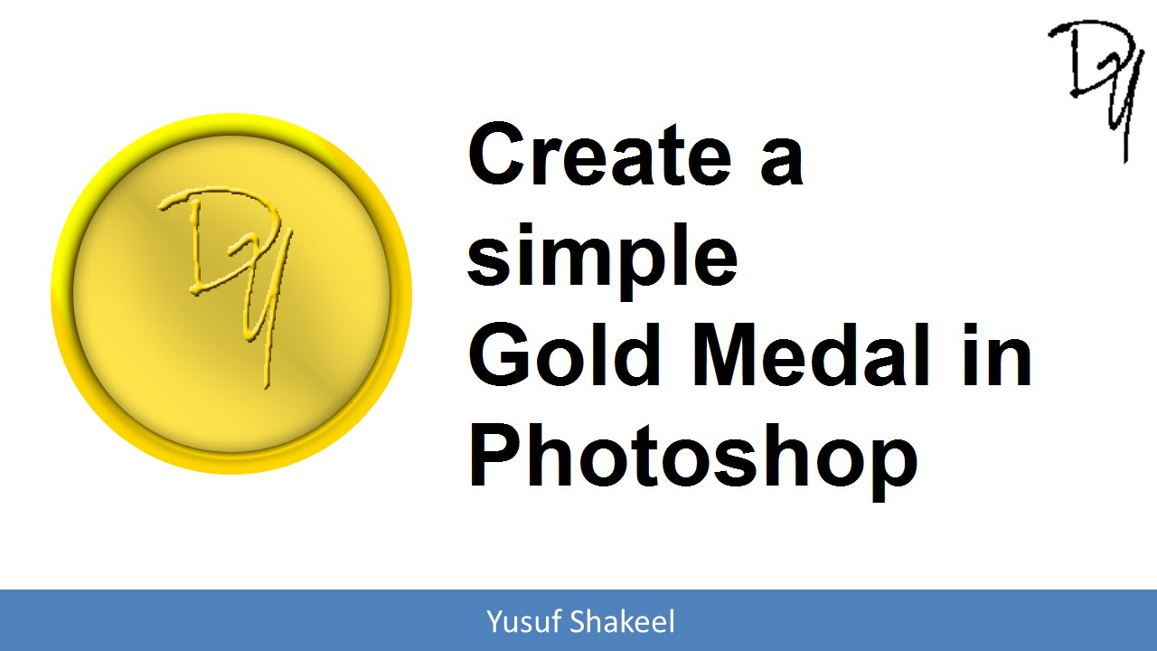 Create a simple Gold Medal in Photoshop - Photoshop