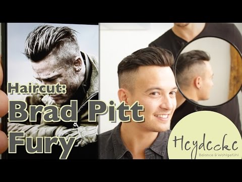Brad Pitt Fury Frisur Haarschnitt - Undercut Haircut Extreme mit Haarteil