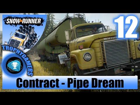SnowRunner - Pipe Dream - Deliver Heavy Fuel Tanker Semi-Trailer Gameplay Walkthrough Part 12