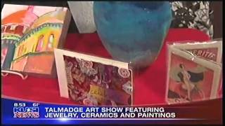 TALMADGE ART SHOW  KUSI TV  11 20 10 8am