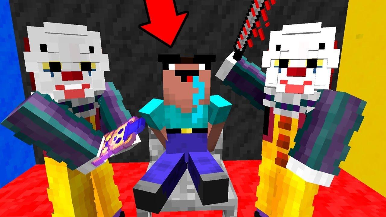Клоун в майнкрафте хочет убить нуба и про