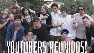 todos los youtubers reunidos antes de club media fest