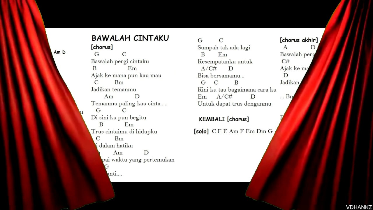 Lirik Lagu Dan Chord : AFGAN BAWALAH CINTAKU - YouTube