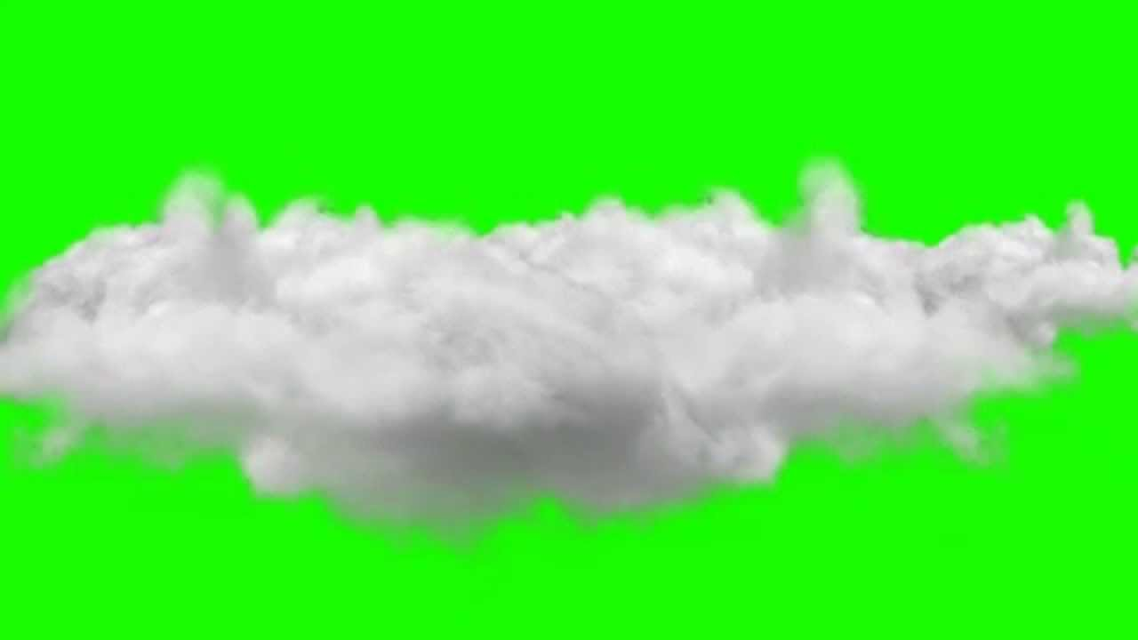 Cloud Realistic Animation Green Screen Royalty Free
