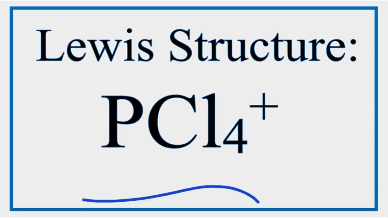 How To Draw The Lewis Structure For Pcl4