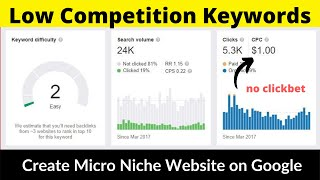 Low Competition Keywords #6 | Micro Niche Website | High Paying CPC