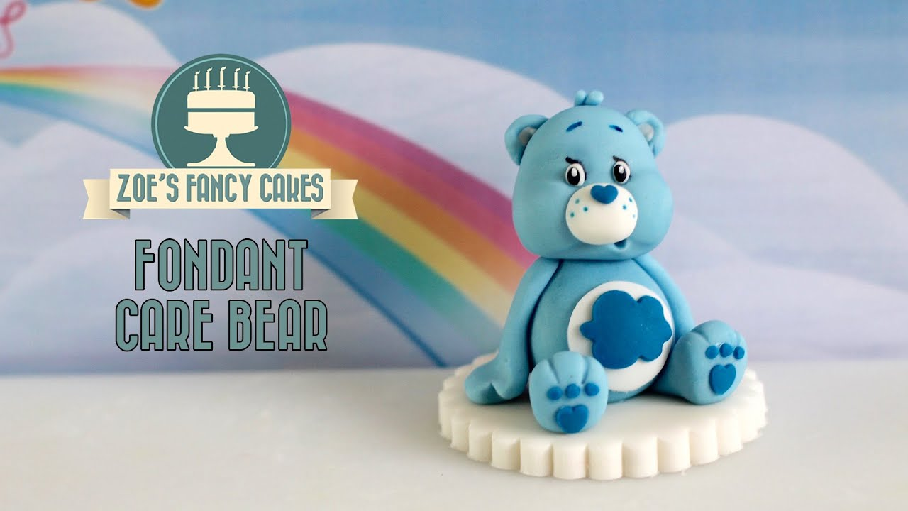 Care Bears How To Make A Fondant Care Bear Model Cake Topper Blue