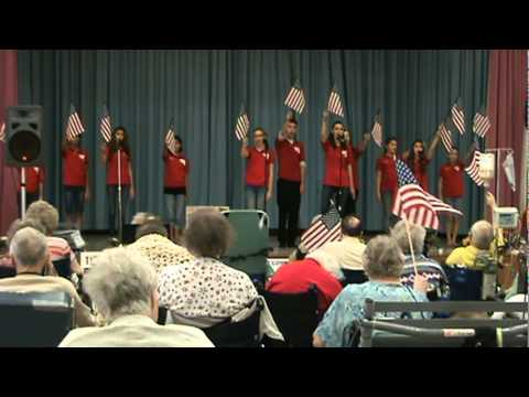 Repeat The Armed Forces Medley for kids with lyrics and