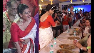 Gorgeous Kajol In A Never Seen Before Avatar At Durga Puja Festival
