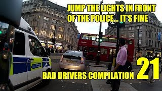 Jump the Lights in Front of the Police - Bad Drivers Compilation 21