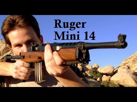 Shooting The Ruger Mini 14  With A Ramline Folding Stock