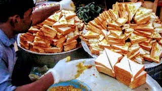 How to make a Sandwich || Making Sandwich in a Street || Sandwich making Video in a Street