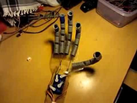 How to make a robot hand at home