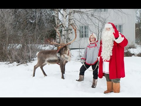 Santa Claus Reindeer Race In Pello In Lapland Finland - Father Christmas Arctic Circle