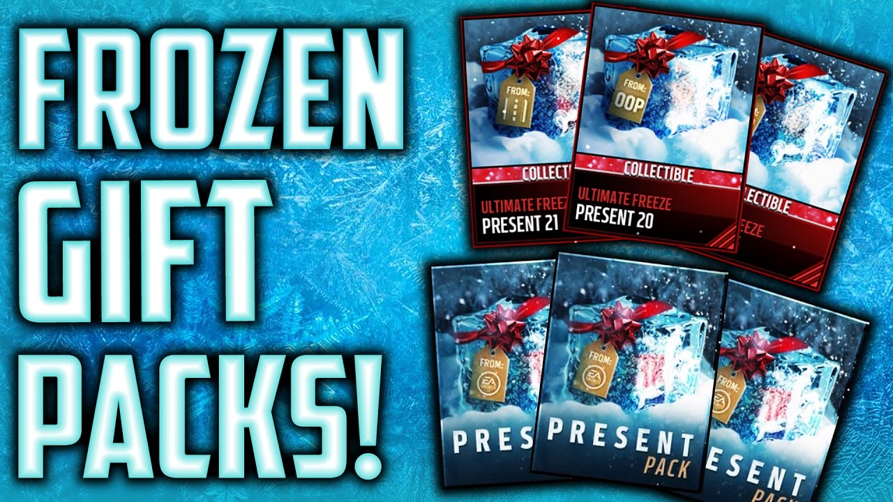 5 FROZEN GIFT PACKS! Ultimate Freeze Presents! Madden Mobile 17 ...