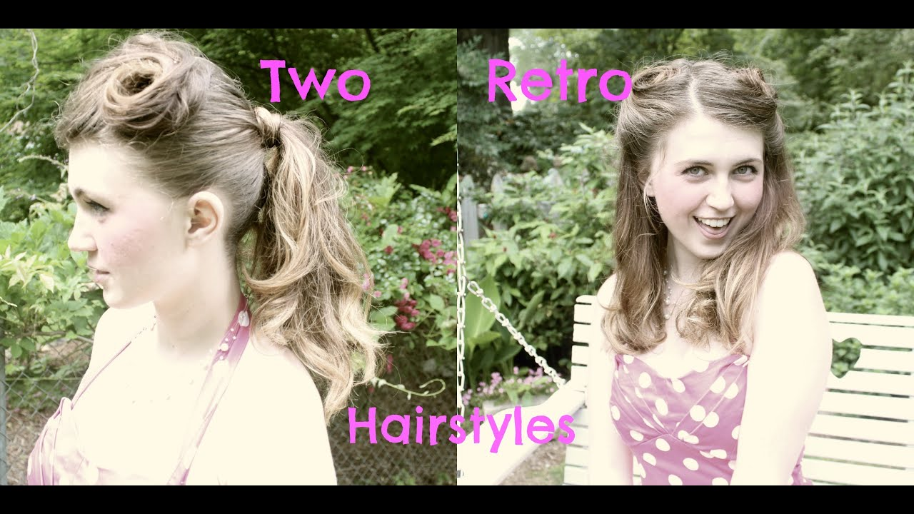 two quick and easy vintage inspired retro pincurled hairstyles