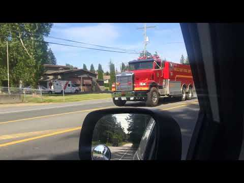Mill Bay Fire Department Tender 76 Responding