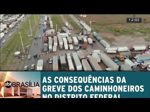 Primeiras consequências da greve dos caminhoneiros no DF | SBT Brasília 24/05/2018
