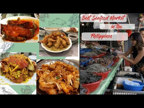 DAMPA SEAFOOD MARKET:Best Fresh Seafood Market in The Philippines! | We found a celebrity