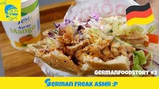 ASMR German food story: lunch in Germany (doner kebap) #2🇩🇪