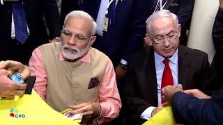 PM Netanyahu and Indian PM Modi Meet with Israeli and Indian CEOs