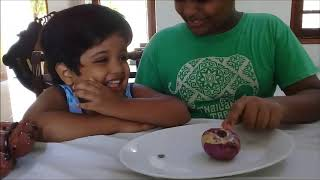 Yehali and Anju playing with vegetables...!