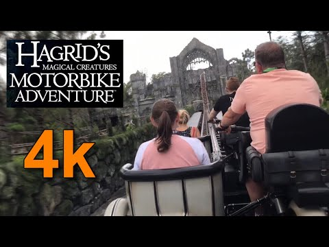 Hagrid's Magical Creatures Motorbike Adventure OPENING DAY - FULL Ride POV & Merchandise