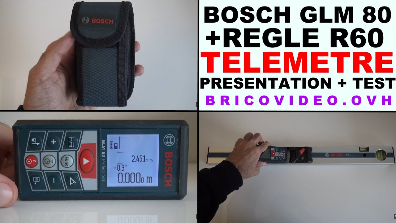bosch glm 80 t l m tre laser niveau professionnel bosch r 60 youtube. Black Bedroom Furniture Sets. Home Design Ideas