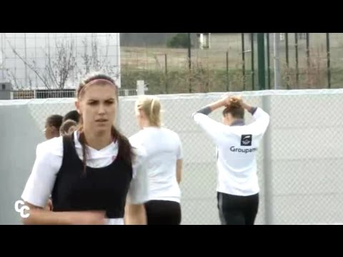 17b926c34 UWCL - Alex Morgan   OLF Preparation Training for Wolfsburg (1st Leg  Quarterfinals) - 3-21-17