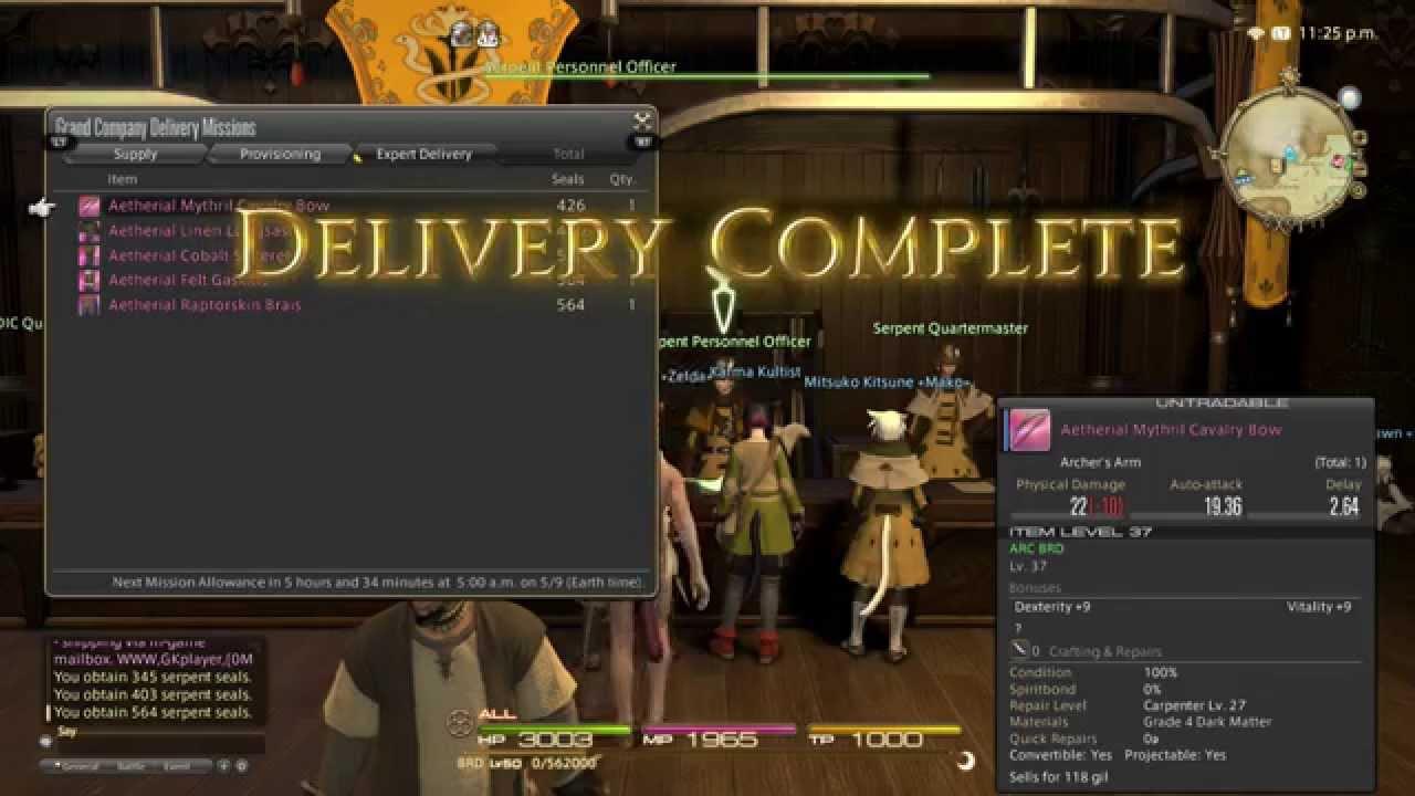 Final Fantasy XIV Tip: Getting More Grand Company Seals