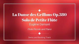 La Danse des Grillons Op.380 - Eugène Damaré - Backing track for Flute Piccolo