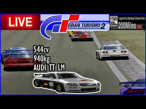 AUDI TT LM  na Endurance Laguna Seca - Gran Turismo 2 - AO VIVO thumbnail