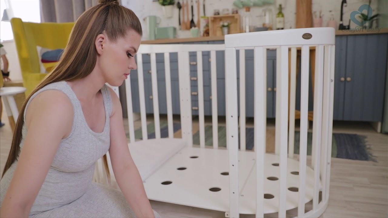 Comfortbaby® babybett smartgrow 7in1 aufbau babylaufstall offen