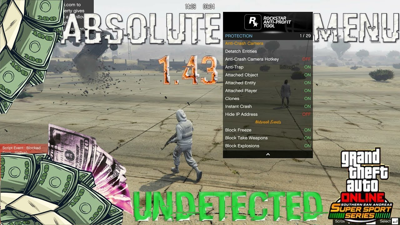 GTA V PC Online 1 43 Absolute Menu - Absolute Protection Undetected (Teaser)