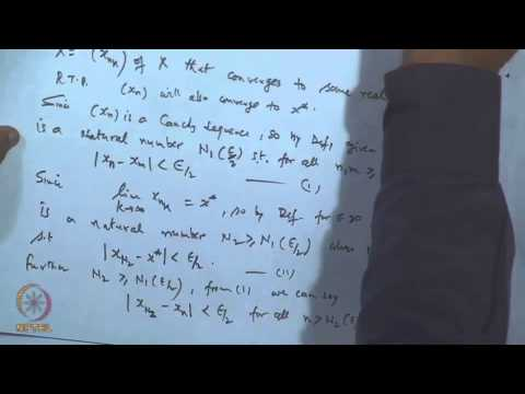 Mod-18 Lec-20 Cauchy sequence and its properties video