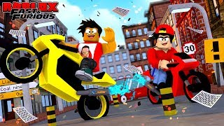 ROBLOX FAST AND THE FURIOUS - DONUT & ROPO GO STREET RACING ON THEIR SUPER MOTORBIKES!!
