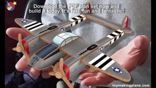 Wood Toy Plans - P-38 WarBird