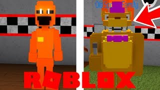 Becoming Fredbear and Springtrap in Roblox FNAF Old Sport's Family Diner Roleplay