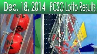 PCSO Lotto Results December 18, 2014 (Swertres, 6/49, 6/42, EZ2 & 6D)